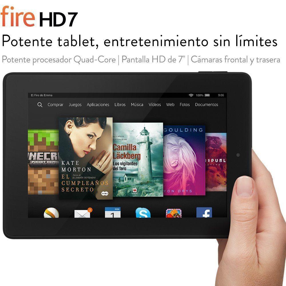"""Fire HD 7 reacondicionado certificado, pantalla HD de 7"""" (17,2 cm), Wi-Fi, 16 GB (Negro) - incluye ofertas especiales"""