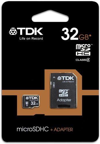 TDK T78725 - Tarjeta de memoria micro SDHC de 32 GB con adaptador (Clase 4)