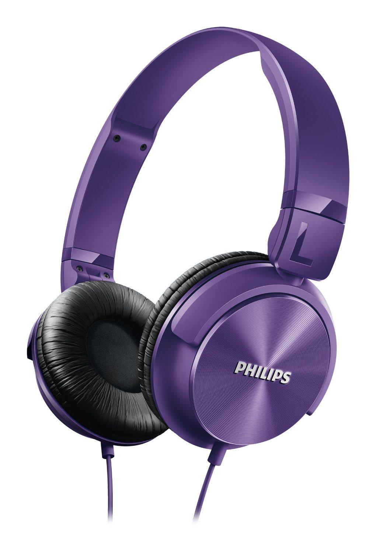 Philips SHL3060 - Auriculares de diadema cerrados tipo DJ (1000 mW, 1.2m), morado