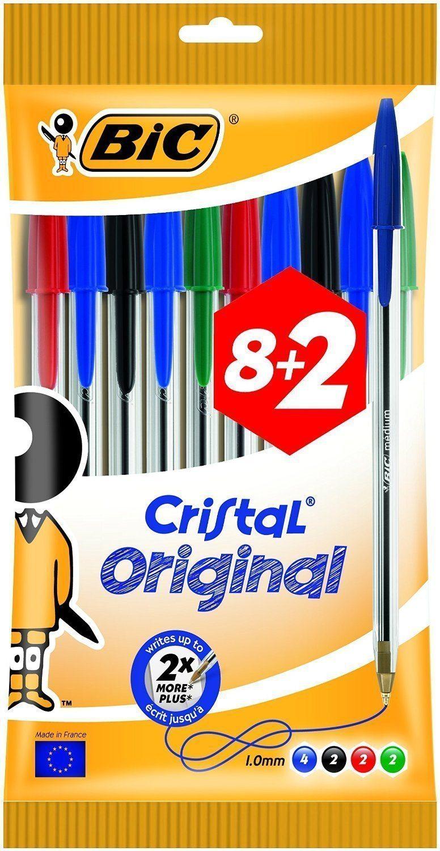 BiC Cristal Medium - Bolígrafos de punta redonda (10 unidades)