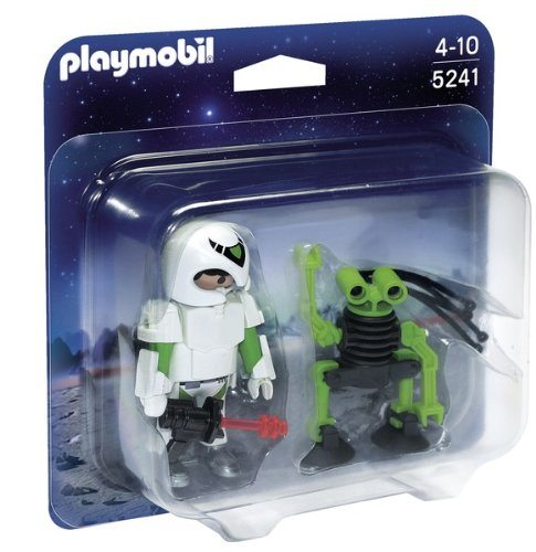 Playmobil Agentes Secretos - Duo Pack: hombre del Espacio con robot (5241)