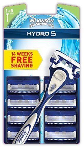 Wilkinson Sword Hydro 5 - Juego de 9 cuchillas de afeitar y maquinilla de afeitar