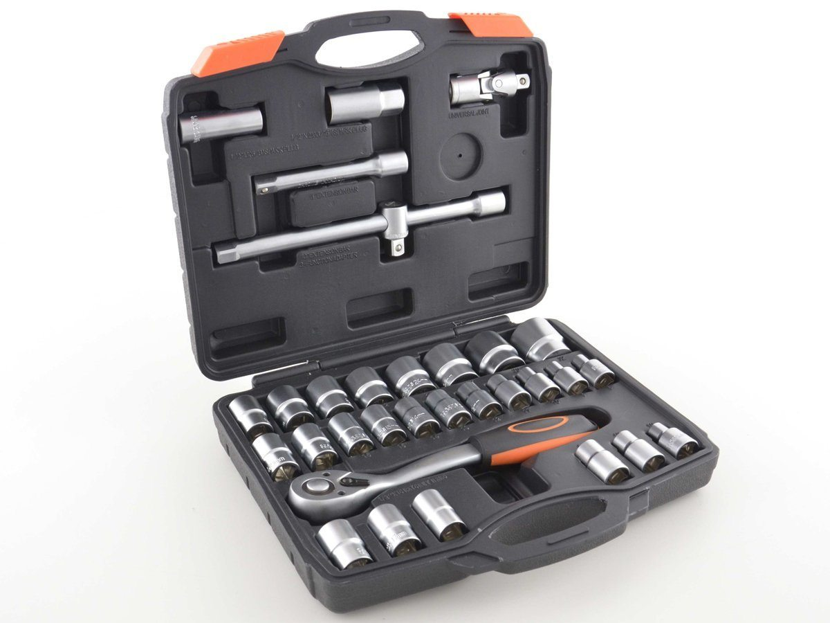 ¡Chollo! Juego de llaves de vaso FK Automotive FKTO12001 de acero vanadio a mitad de precio, sólo 45,99 euros. 