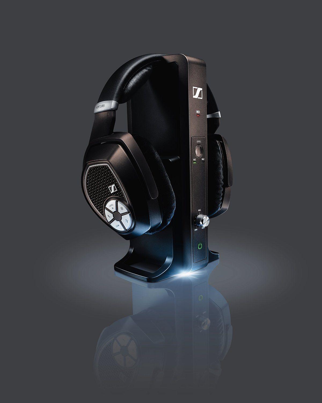 Sennheiser RS 185 - Auriculares de diadema cerrados Bluetooth (control remoto integrado)
