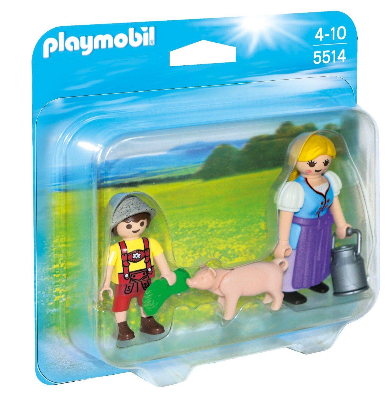 Playmobil Granja - Duo pack campesina y niño (5514)