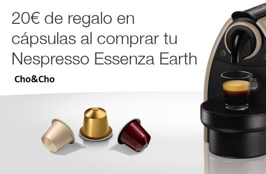 20 euros regalo cápsulas Nespresso Essenza