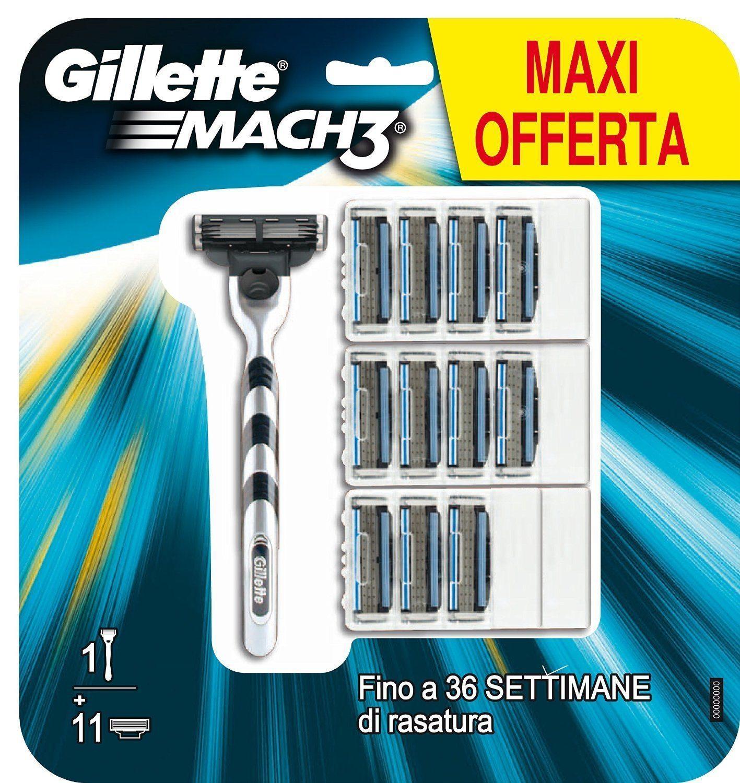 Gillette Mach3 - Maquinilla de afeitar para hombre (incluye 12 hojas)
