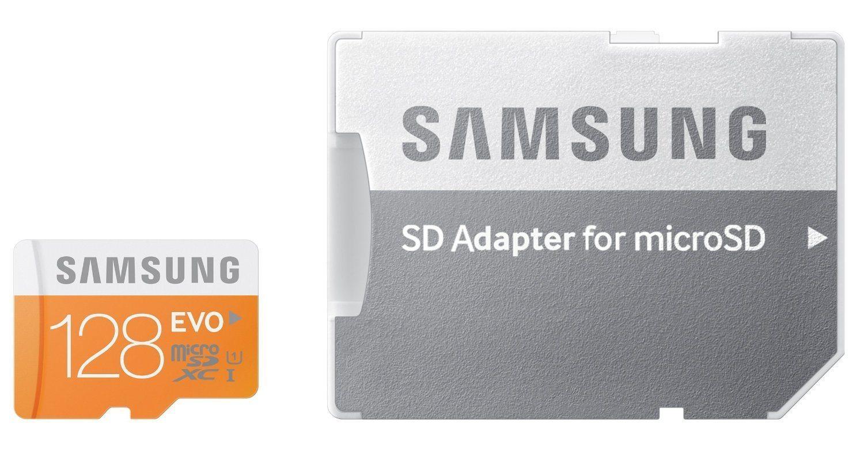 Tarjeta MicroSD de 128Gb Samsung EVO con Adaptador a SD