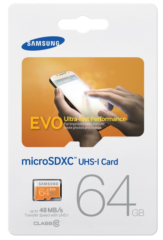 Samsung Evo MB-MP64D/EU - Tarjeta de memoria Micro SDXC de 64 GB (UHS-I, Grade 1, Clase 10)
