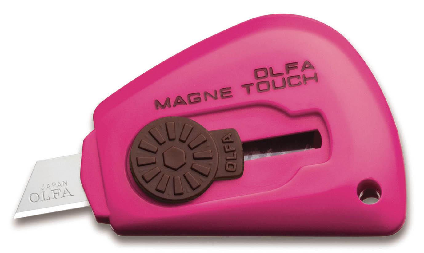 Olfa Surtido Cuchillo Touch magnética (los colores pueden variar), pack de 24 unidades