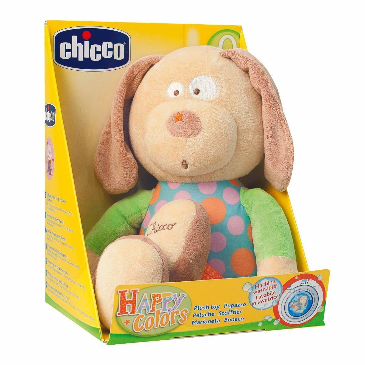 """Chicco - Peluche """"Happy Colors"""" perro"""