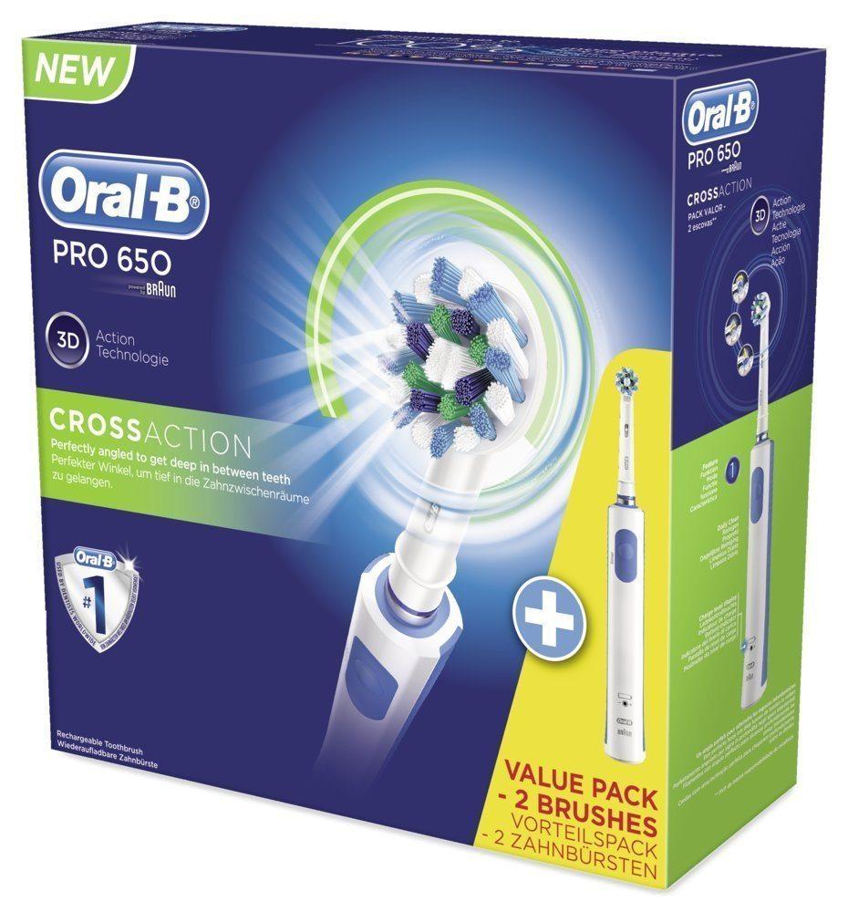 Braun Oral B PRO 650 - Cepillo de dientes eléctrico de rotación