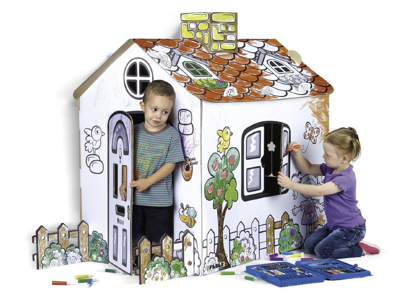 Feber - Pinta tu casita - Casa de cartón para decorar