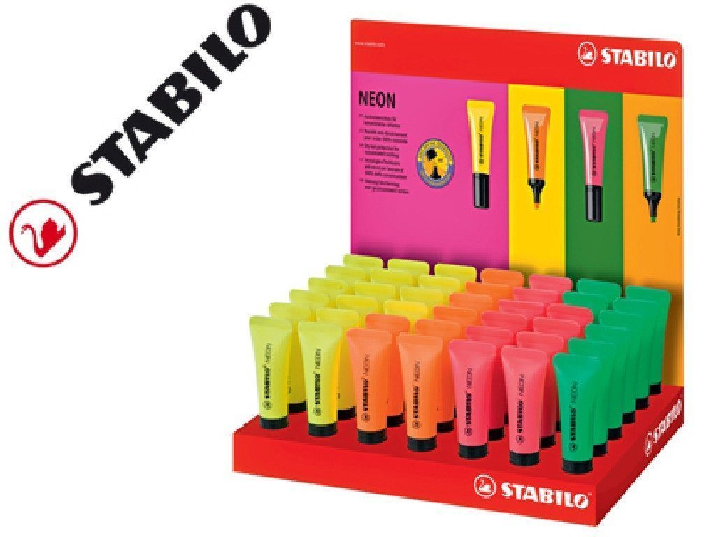 Stabilo 72/42-1 - Pack de rotuladores, fluorescentes