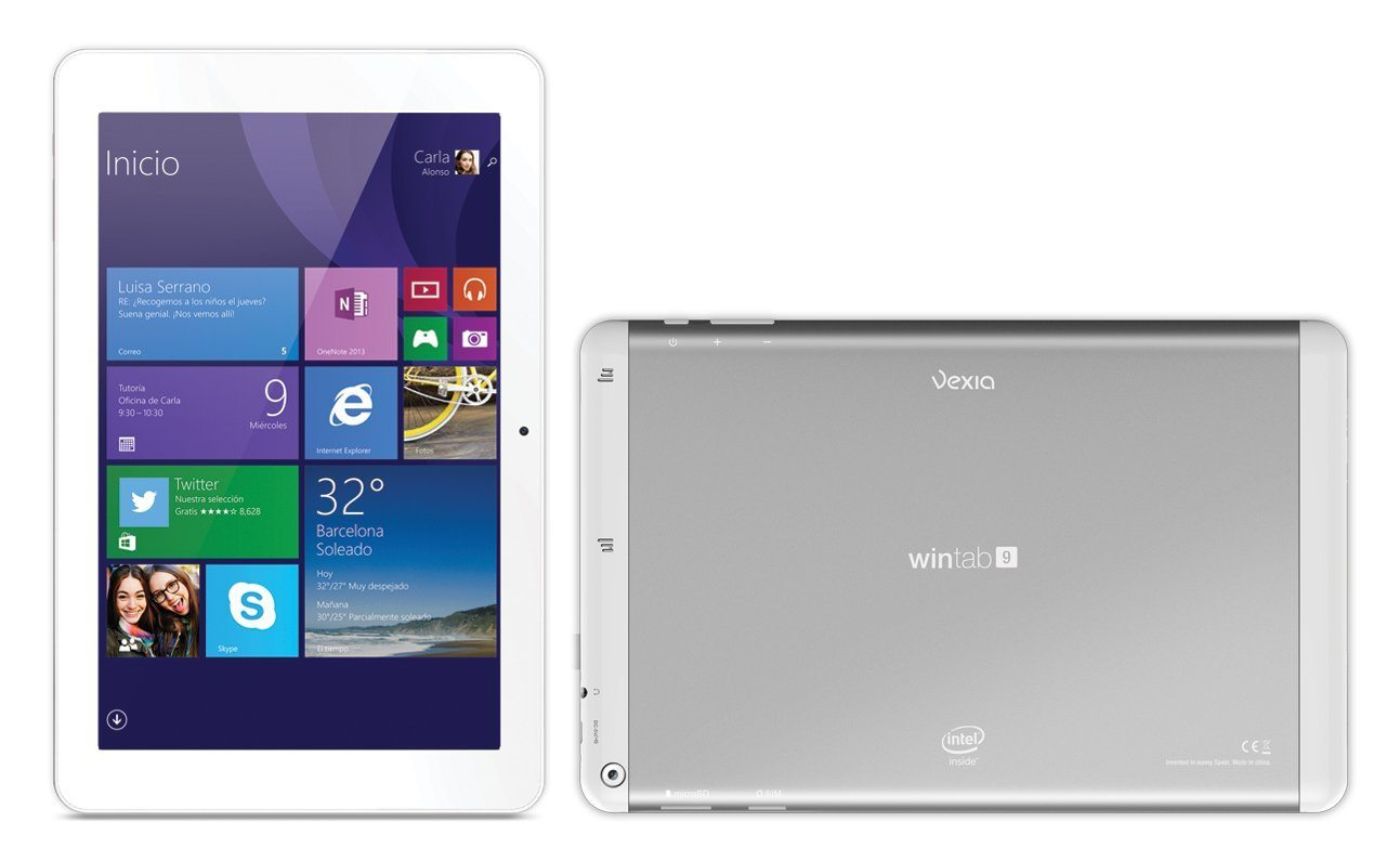 "Vexia WinTab 9 - Tablet de 8.9"" (32 GB, Bluetooth, WiFi, Intel Atom Z3735F, 1 GB de RAM, Windows 8.1), blanco"
