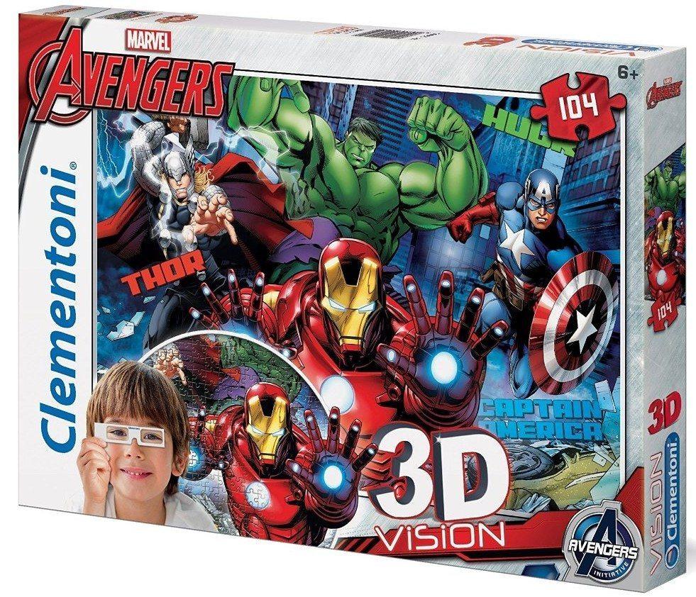Clementoni - Puzzle 3D, Vengadores/Avengers