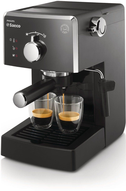 Philips HD8423/11 - Cafetera espresso manual Saeco Poemia para café molido y monodosis ESE, salida de café para una o dos tazas
