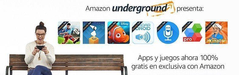 Aplicaciones y juegos gratis con Amazon Underground.
