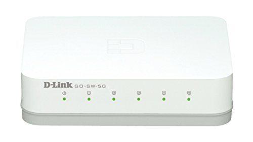 D-Link - Conmutador de 5 puertos Gigabit