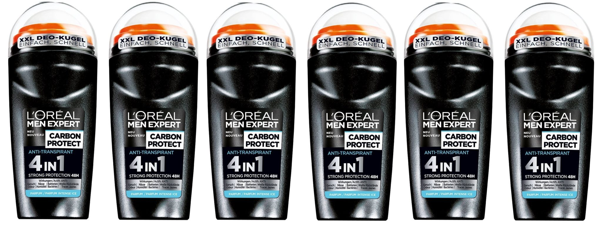 L'oreal paris - Men expert deo roll, desodorante roll - on, (6 x 50 ml)