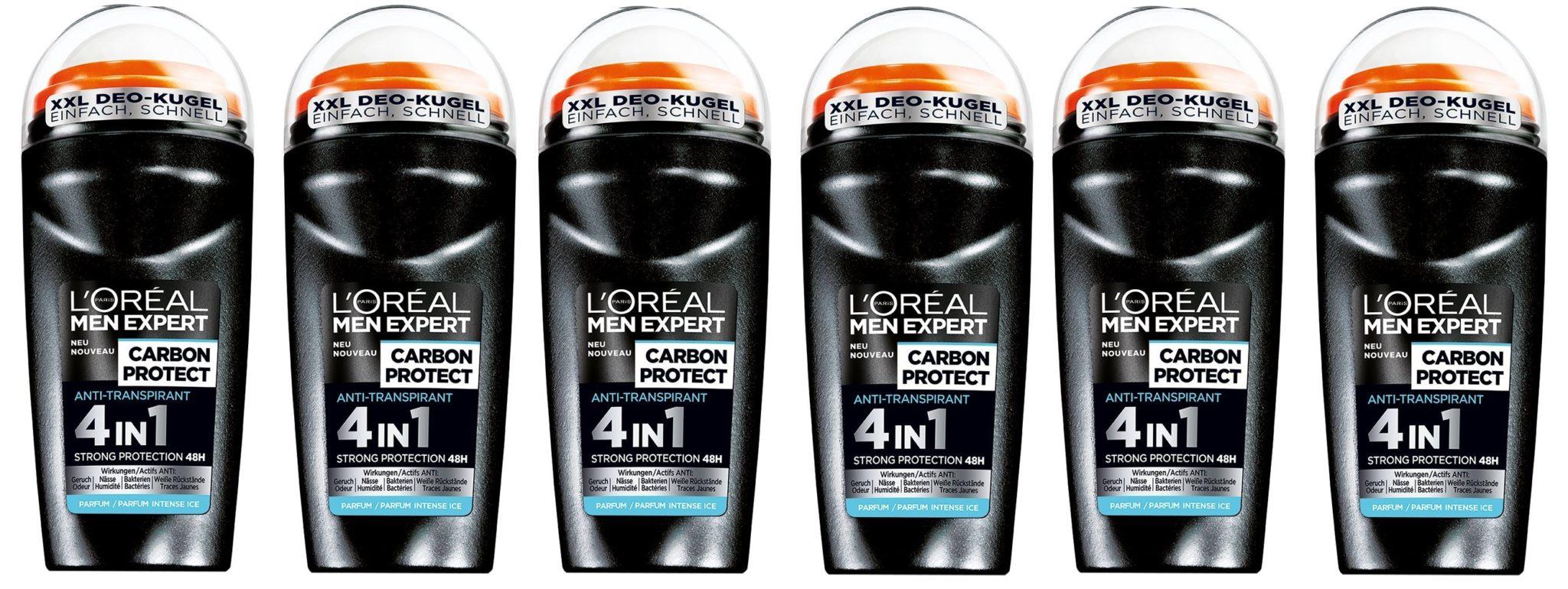 L'oreal paris - Men expert deo roll, desodorante roll - on, (6 x 50 ml)
