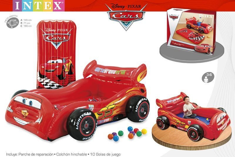 Intex - Coche hinchable con bolas