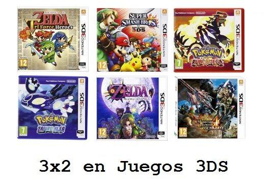 Promoción: 3x2 en una selección de juegos de Nintendo 3DS