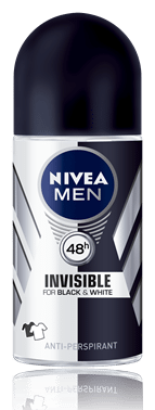 Nivea men desodorante rollon invisible for black white 50ml