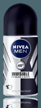 Nivea men desodorante rollon invisible for black white 50ml