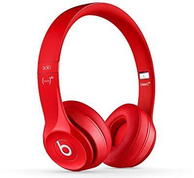 Beats by Dr. Dre Solo2 - Auriculares de diadema, color rojo