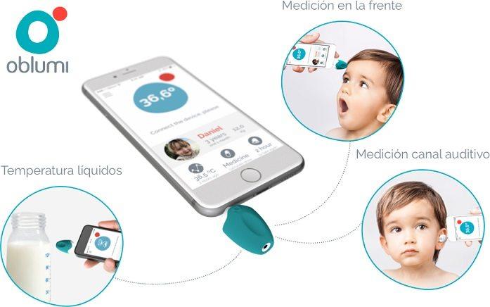 Oblumi OBLT12Z - Termómetro corporal para smartphone