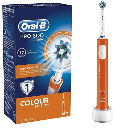Oral-B PRO 600 CrossAction - Cepillo eléctrico recargable