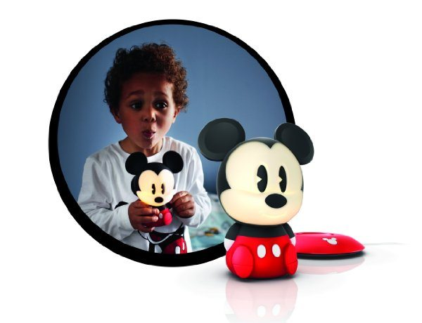 Philips Disney SoftPal Mickey - Lámpara de mesa