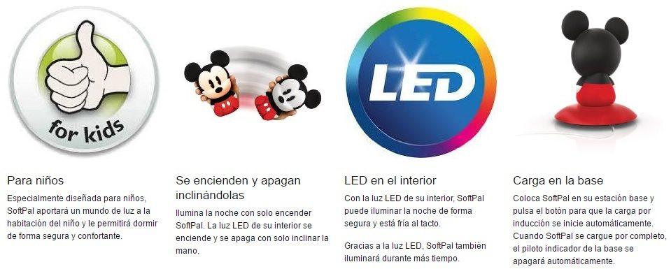 Philips Disney SoftPal Mickey - Lámpara de mesa chollo oferta ganga caracteristicas