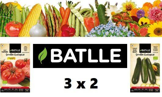 3x2 en todo el catálogo de Semillas Batlle