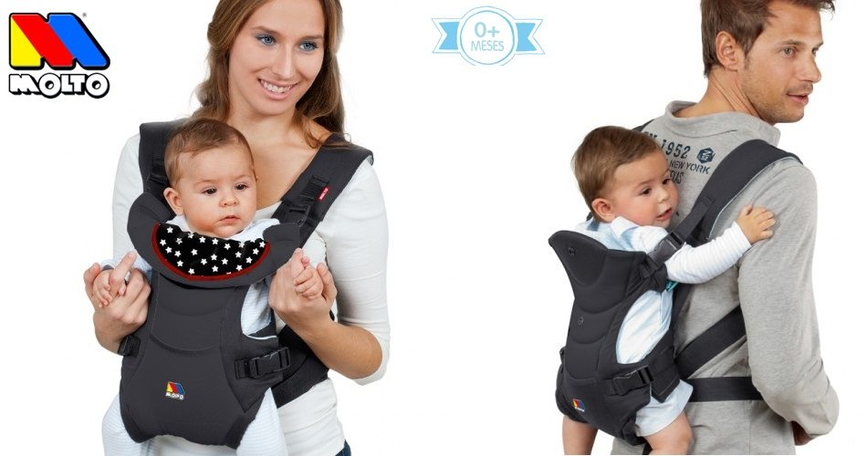 Portabebés molto Multiposition Comfort Carrier 3 in 1