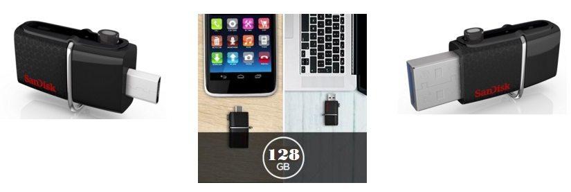 Memoria USB 3.0 + MicroUSB SanDisk Ultra Dual 128GB OTG