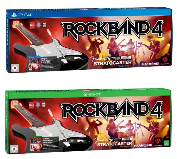 Rock Band 4 + Guitarra Wireless Fender Stratocaster xbox y ps4