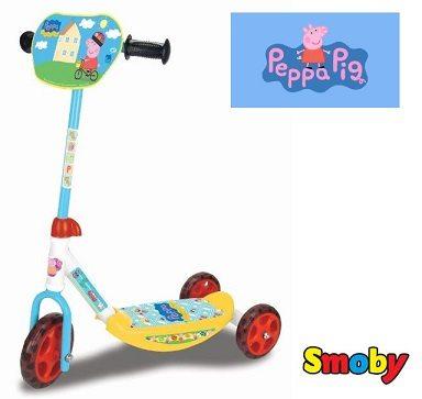 Peppa Pig - Patinete de 3 con ruedas (Smoby 450163)