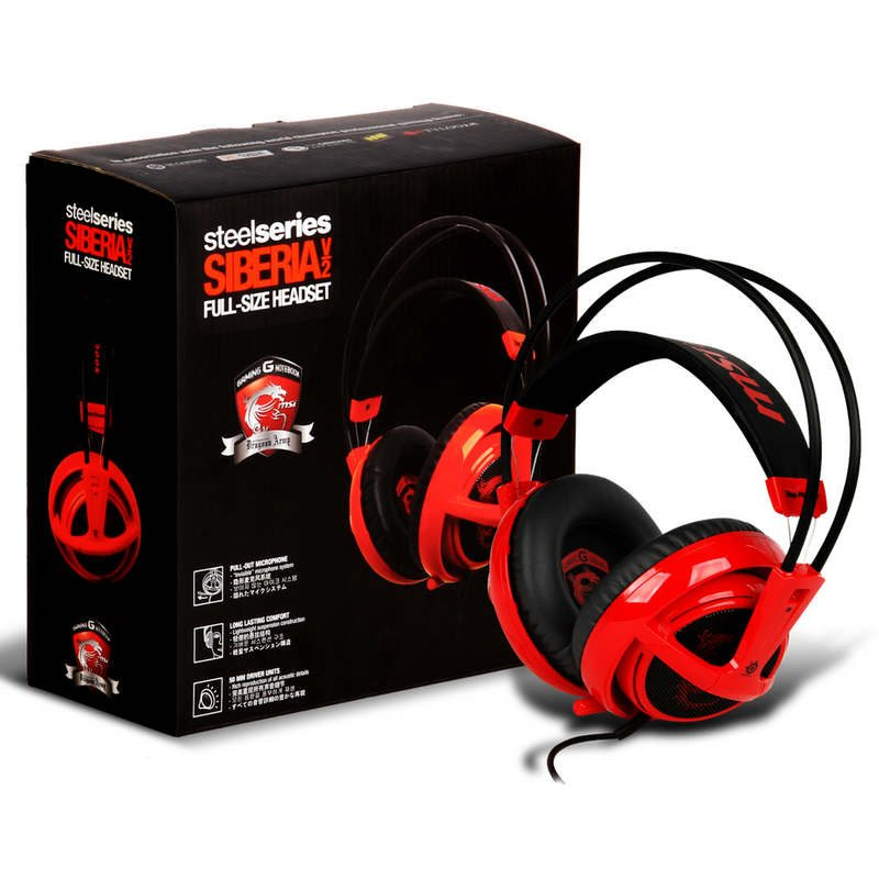 SteelSeries Siberia V2 MSI Rojo