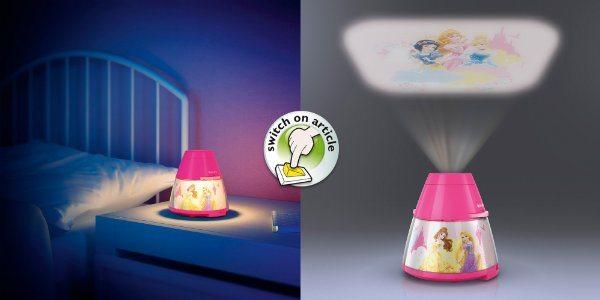 Philips Disney - Proyector LED, luz nocturna, diseño Princesas