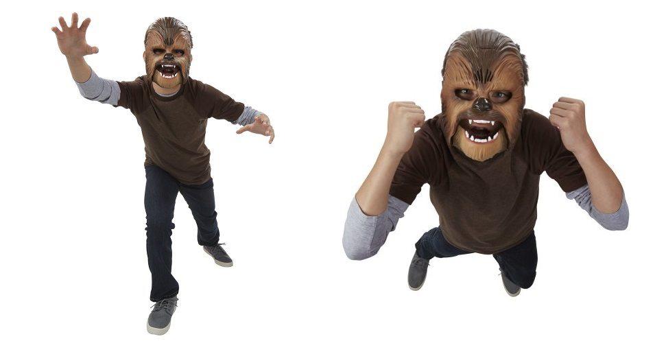 Star Wars - Máscara electrónica de Chewbacca puesta