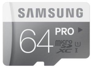 Tarjeta de memoria Micro SDXC de 64 GB samsung pro