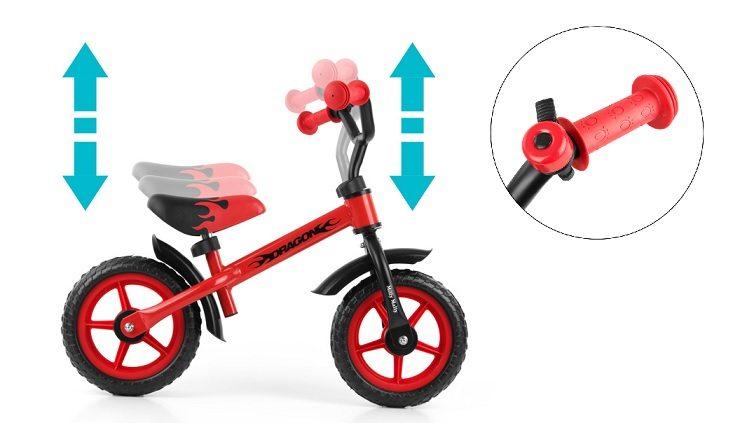 Bicicleta sin pedales Dragon de Milly Mally barata detalles