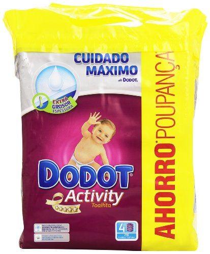 Dodot - Activity Toallitas - 4 paquetes - 216 unidades