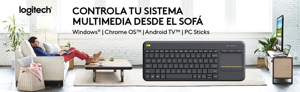 Logitech K 400+ Teclado inalámbrico con TouchPad barato chollo caracteristicas