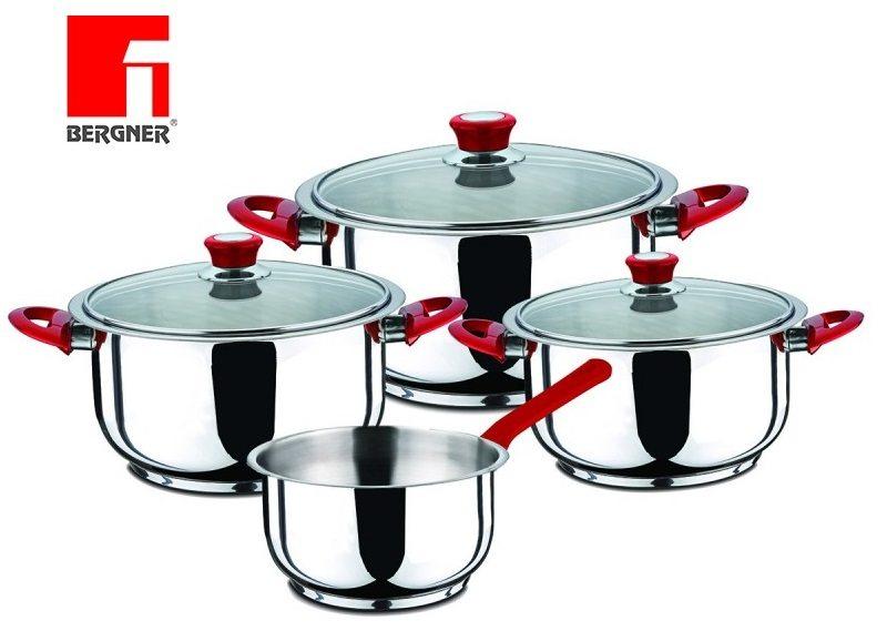 Bergner Zurich - Batería de cocina de 7 piezas