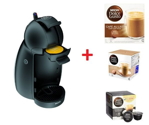 Cafetera Dolce Gusto Piccolo con 4 packs