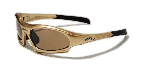 Gafas de sol deportivas polarizadas X-Loop doradas