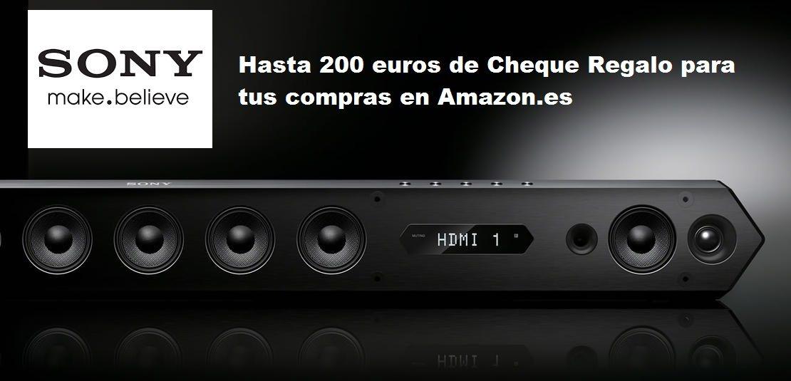 hasta 200 euros de Cheque Regalo para tus compras en Amazon.es